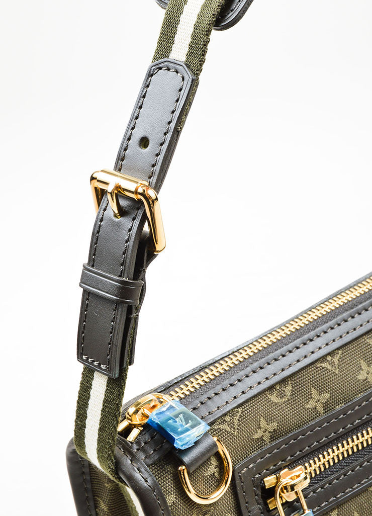 "Green Louis Vuitton Monogram Canvas ""Mini Lin Kathleen Pochette"" Shoulder Bag Detail 2"