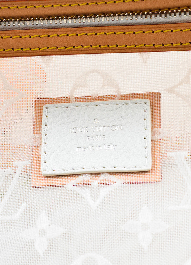 "Louis Vuitton Limted Edition White Nylon and Leather ""Transparence Lockit"" Satchel Bag Brand"
