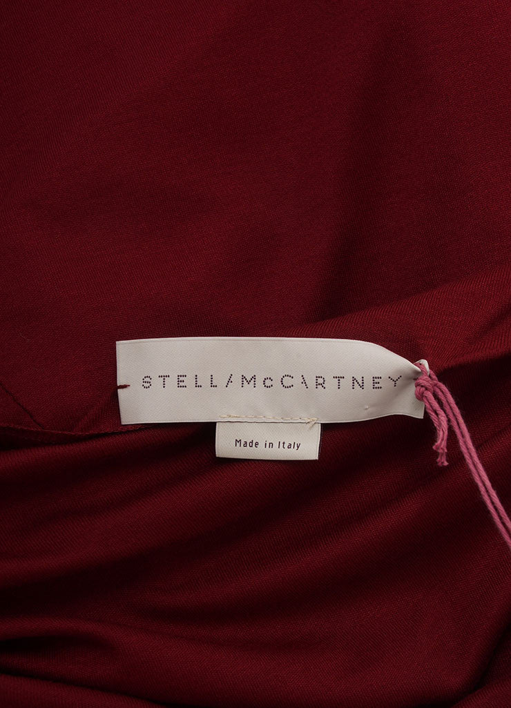 Stella McCartney New With Tags Burgundy Jersey Knit Sleeveless Dress Brand