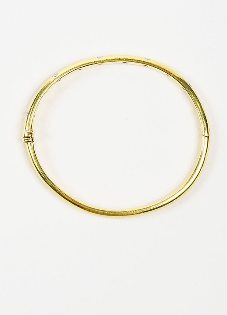 "Tiffany & Co.18K Yellow Gold, Platinum, and Diamond ""Etoile"" Bangle Bracelet Topview"