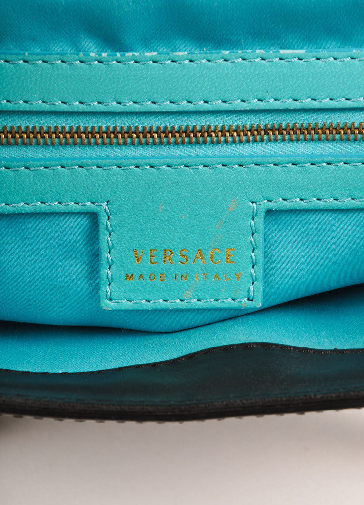 Versace Black Patent Leather Handbag Brand