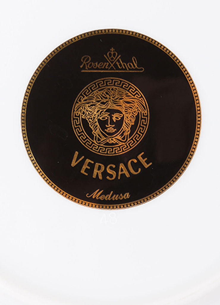 "Versace Rosenthal Red, Black, and Gold Toned ""Medusa"" 7 inch Bread and Butter Plate Brand"