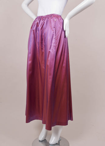 New With Tags Iridescent Purple Long Silk Blend Skirt