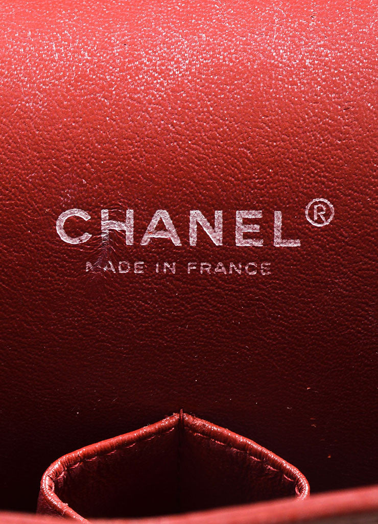 Dark Red Chanel SHW Quilted Soft Caviar Leather Classic Maxi Double Flap Bag Brand