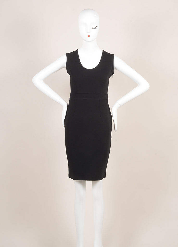 Givenchy Black Sleeveless Cocktail Dress Frontview