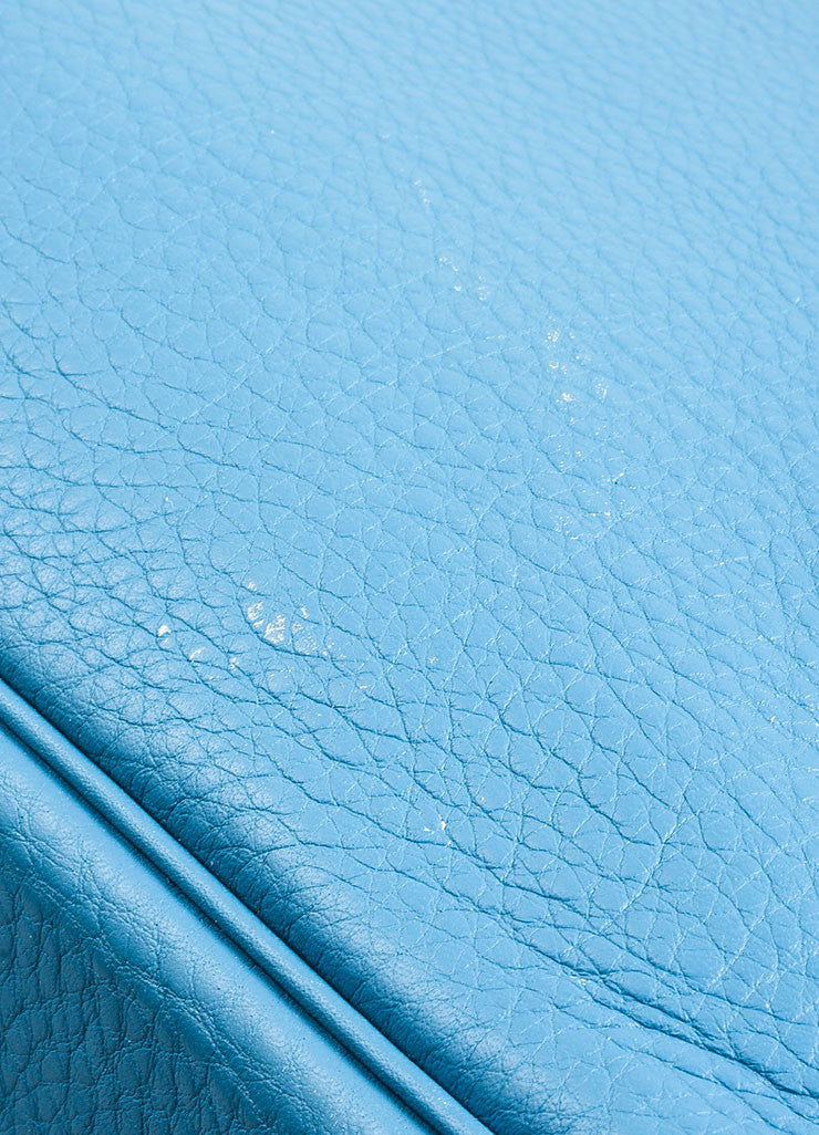 "Blue ""Saint Cyr"" Hermes SHW Leather 50cm ""Birkin"" Bag Detail 5"