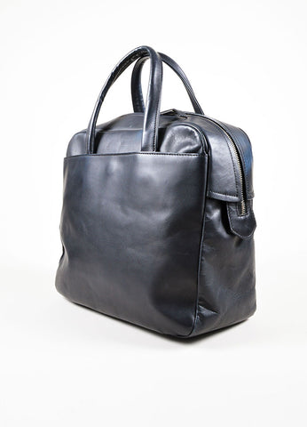 Black Leather Maison Martin Margiela Bowler Bag Side