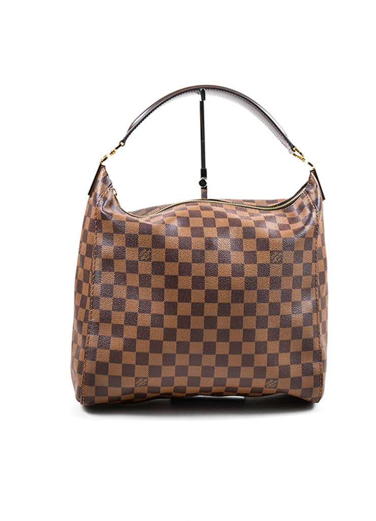 "Brown Louis Vuitton Damier Ebene Canvas ""Portobello GM"" Tote Bag Frontview"