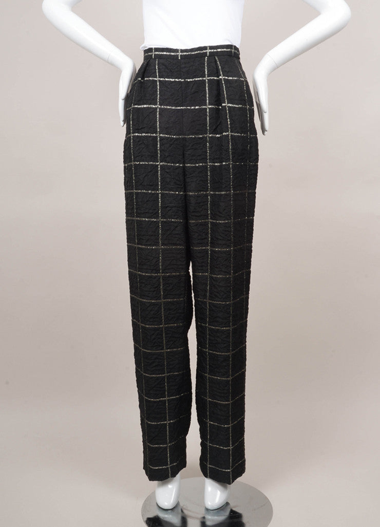 Black and Silver Plaid Pants