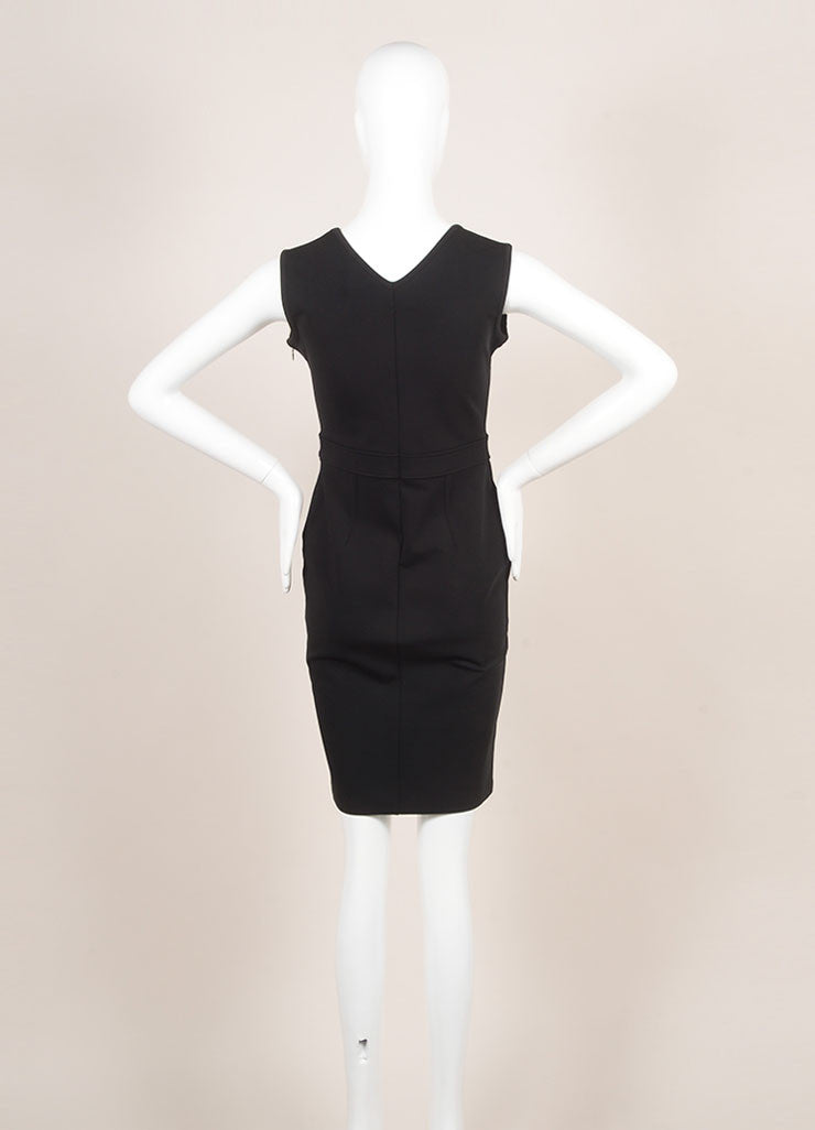 Givenchy Black Sleeveless Cocktail Dress Backview