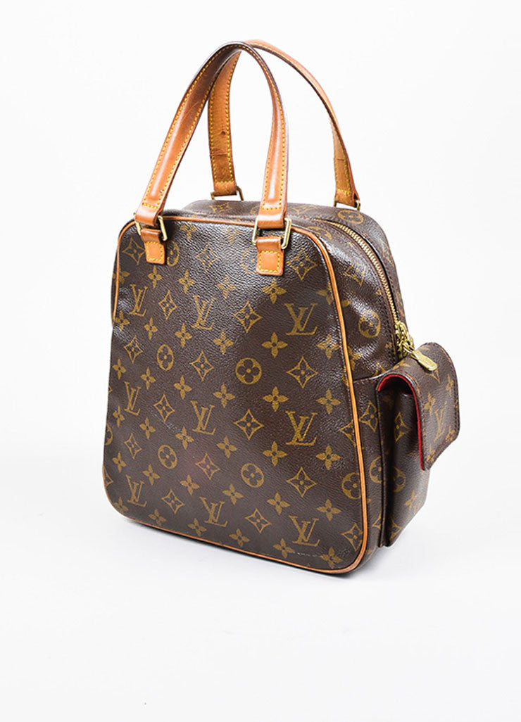 Louis Vuitton Brown Coated Canvas Mongram Multi Pocket 'Excentri-Cite' Tote Bag Sideview