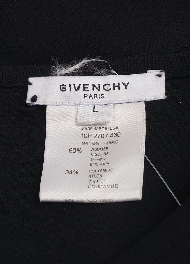 Givenchy Black Sleeveless Cocktail Dress Brand