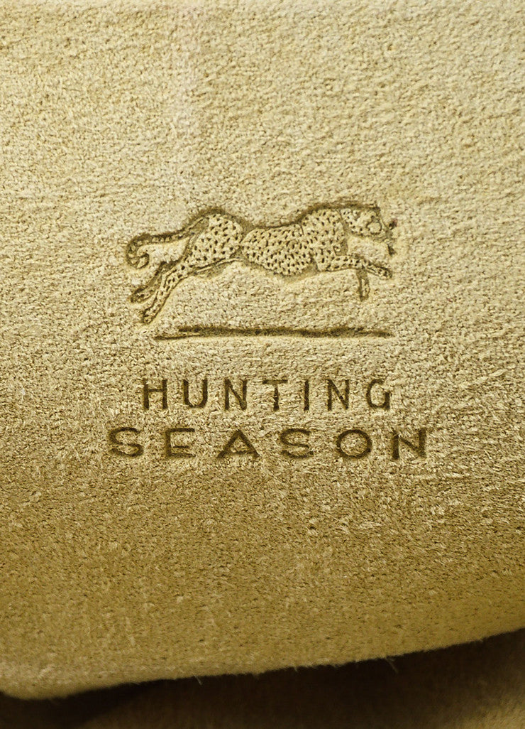 Hunting Season Cream and Grey Python Bucket Bag brand