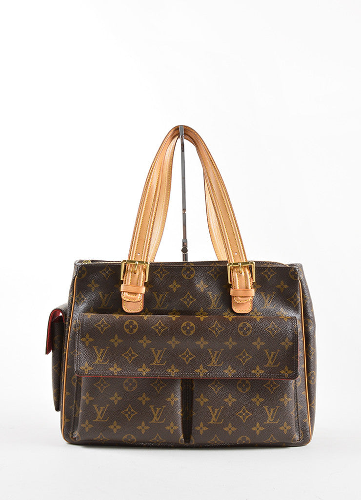 "Louis Vuitton Brown Monogram Canvas and Leather ""Multipli Cite"" Tote Bag Frontview"