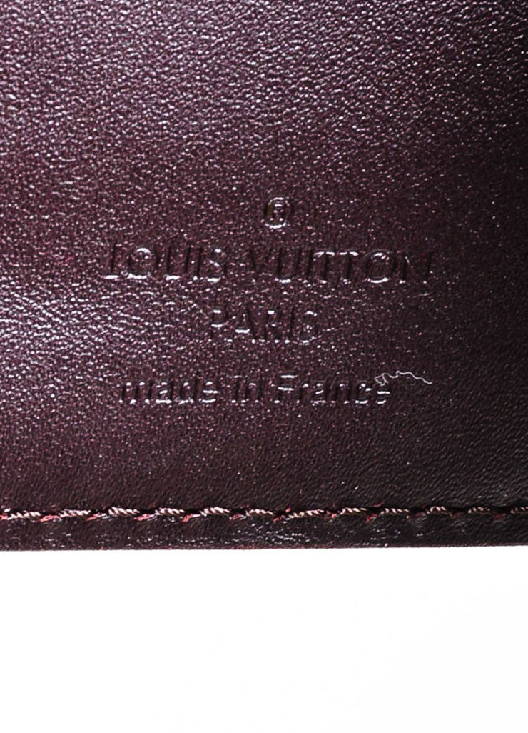 """Amarante"" Dark Purple Louis Vuitton Monogram Vernis Koala Wallet Brand"