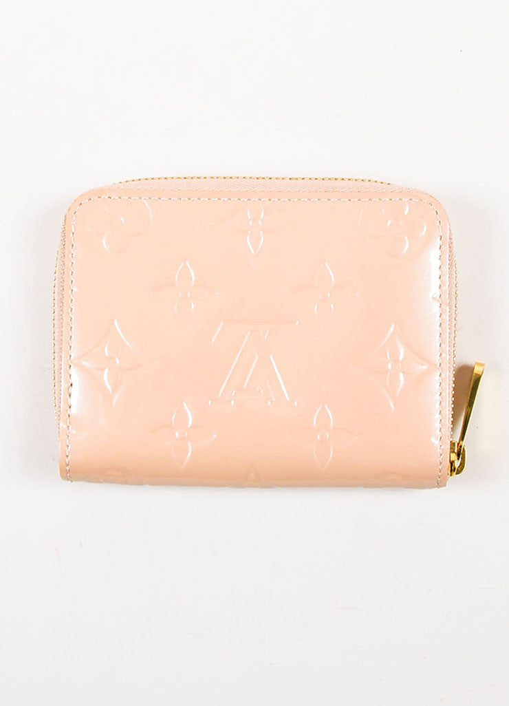 "Louis Vuitton Nude Patent Leather Embossed Monogram ""Zippy"" Coin Purse Backview"