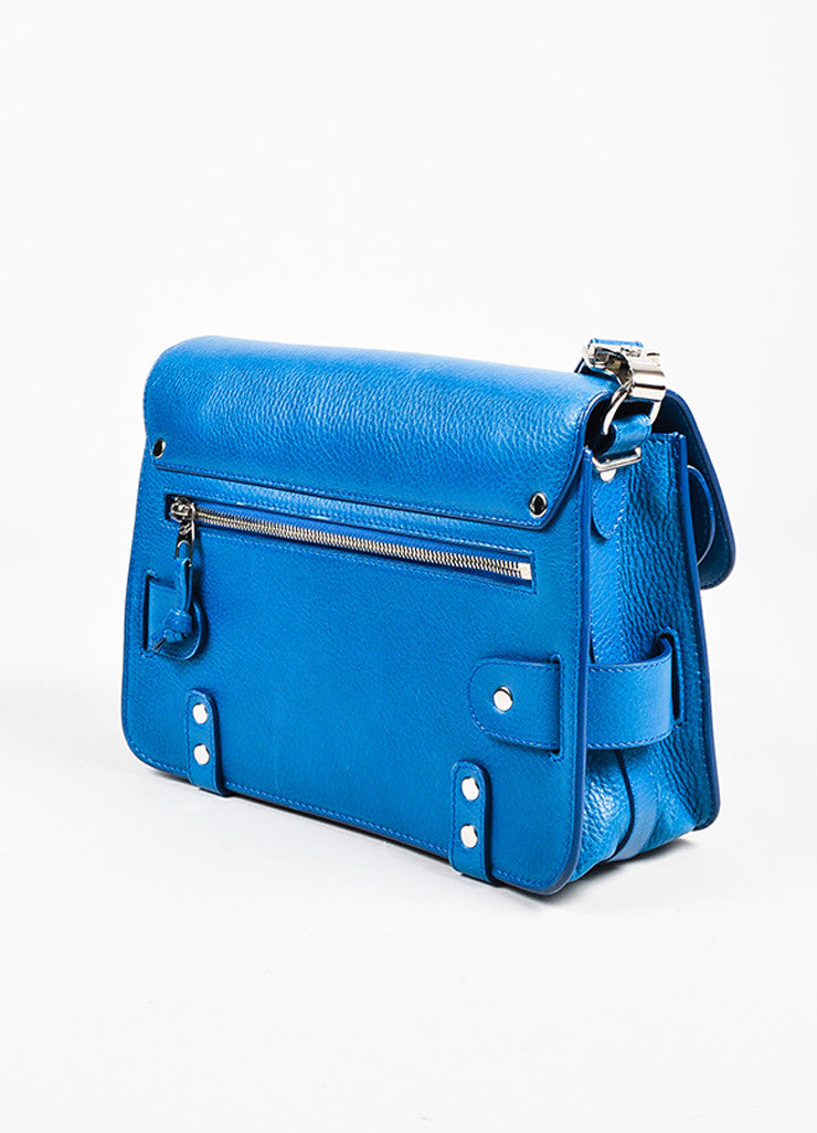 "Proenza Schouler Blue Leather SHW Front Flap ""PS11 Classic"" Crossbody Bag"