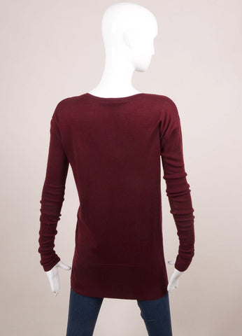 "Thomas Wylde New With Tags Red Cashmere Sequin ""Fly Away"" Tunic Sweater Backview"