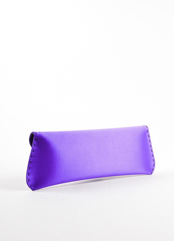 "VBH Purple Satin Stitch Detail ""Martini"" Clutch Bag Back"