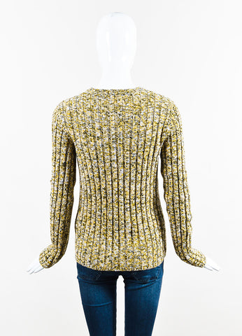 "Green and Yellow Valentino Wool Cashmere Blend ""Giallo"" Sweater Back"