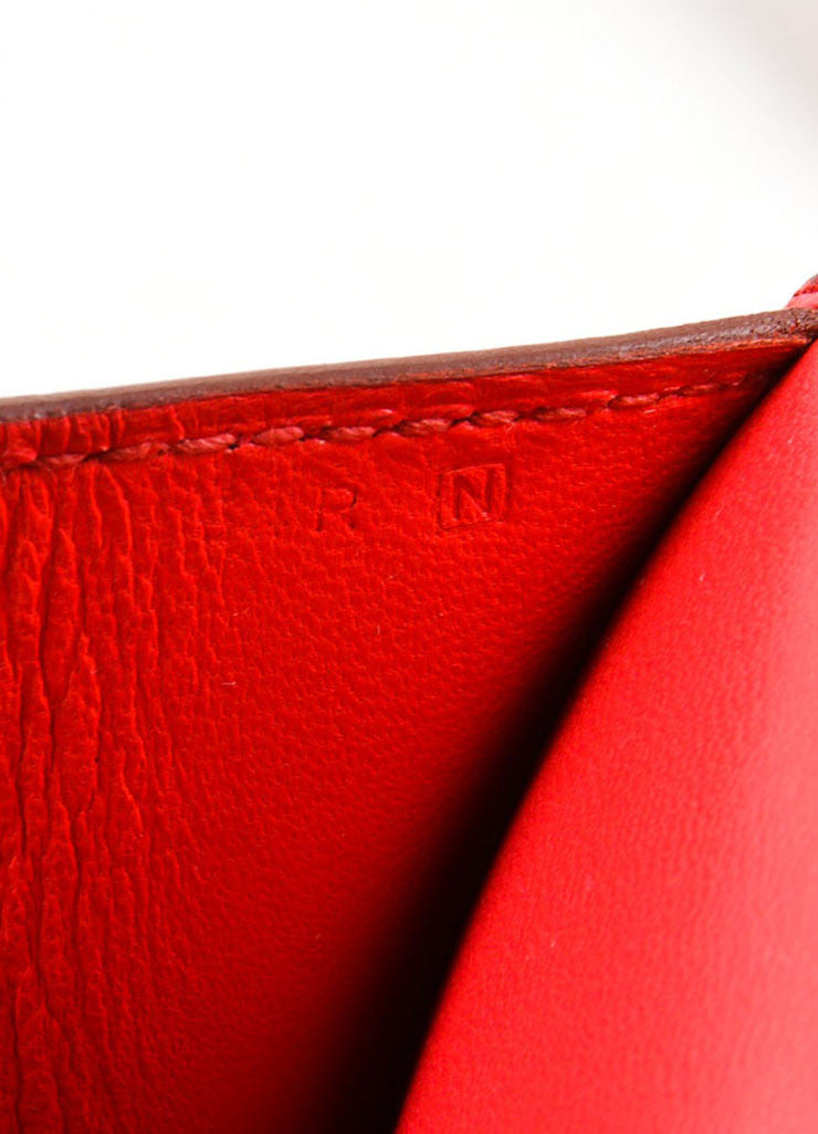 "Hermes Red Leather 25cm ""Constance Elan"" Cross Body Bag Date Code"