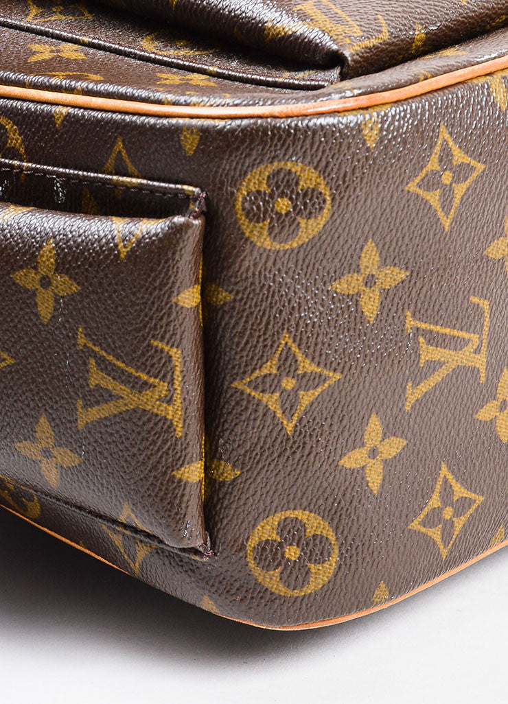 Louis Vuitton Brown Coated Canvas Mongram Multi Pocket 'Excentri-Cite' Tote Bag Detail