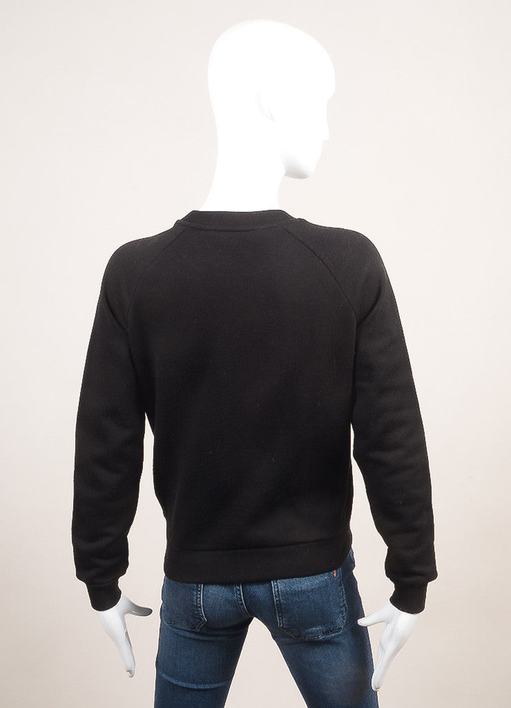 Stella McCartney New With Tags Black Beaded Arrow Pull Over Sweatshirt Backview