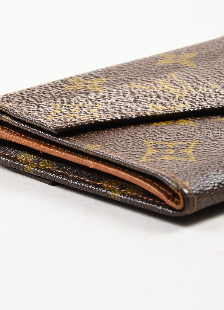 Louis Vuitton Brown Coated Canvas Monogram Snap Billfold Wallet Detail