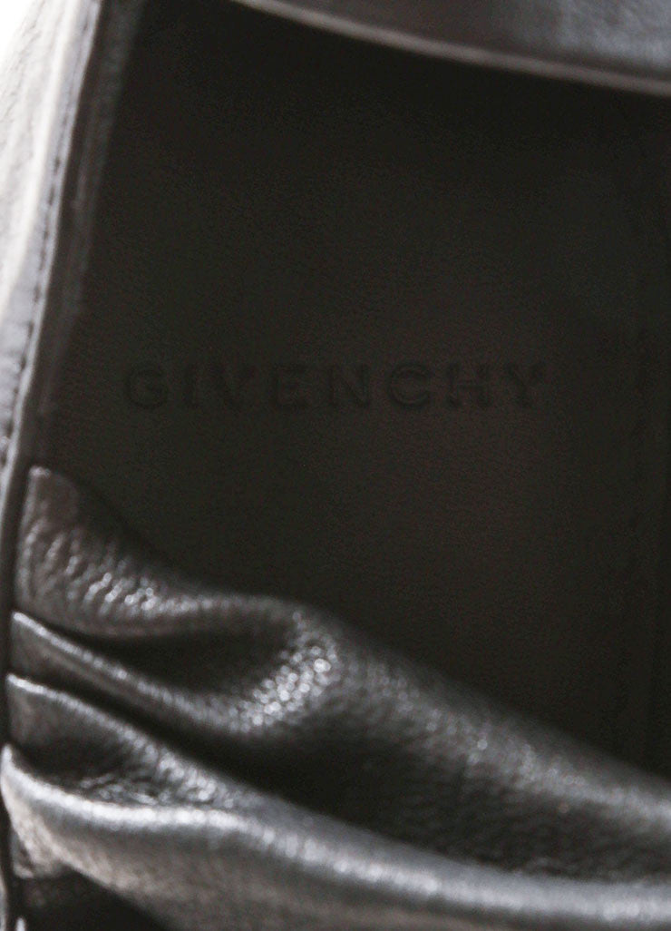 Givenchy Black Leather Wrapped Wedge Sandals Brand
