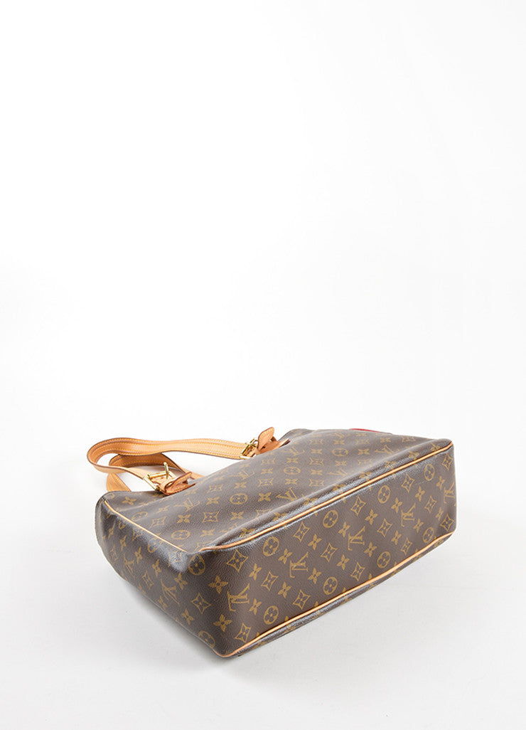 "Louis Vuitton Brown Monogram Canvas and Leather ""Multipli Cite"" Tote Bag Bottom View"