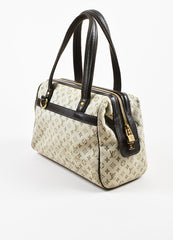 "Beige & Green Louis Vuitton Canvas Monogram ""Josephine PM"" Bag Back"