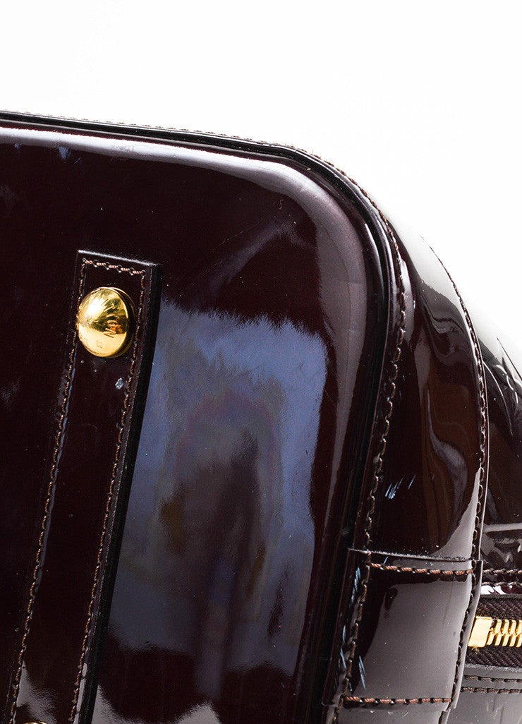 "Louis Vuitton Burdungy Monogram Vernis ""Alma GM"" Handbag Detail"