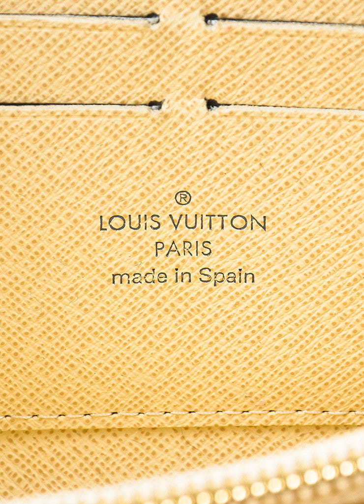 "Louis Vuitton Cream and Navy ""Damier Azur"" Printed Coated Canvas ""Zippy"" Wallet Brand"