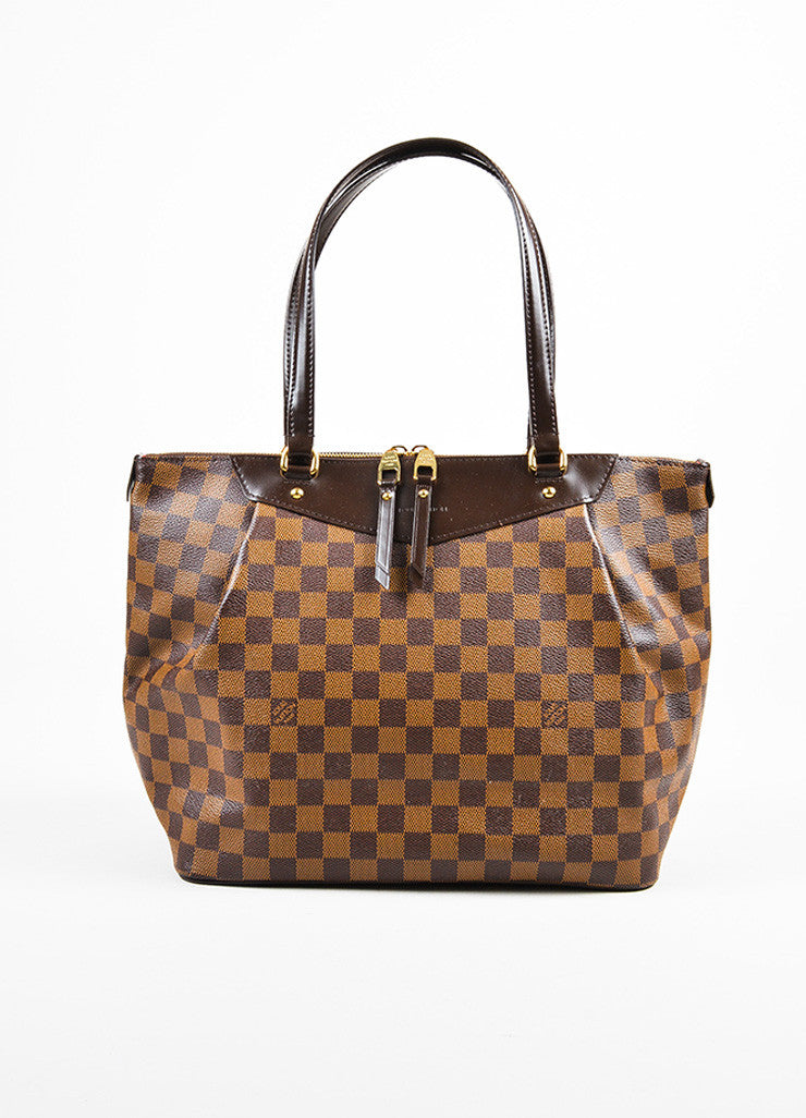 "Louis Vuitton Damier Ebene Canvas ""Westminster GM"" Tote Bag Frontview"