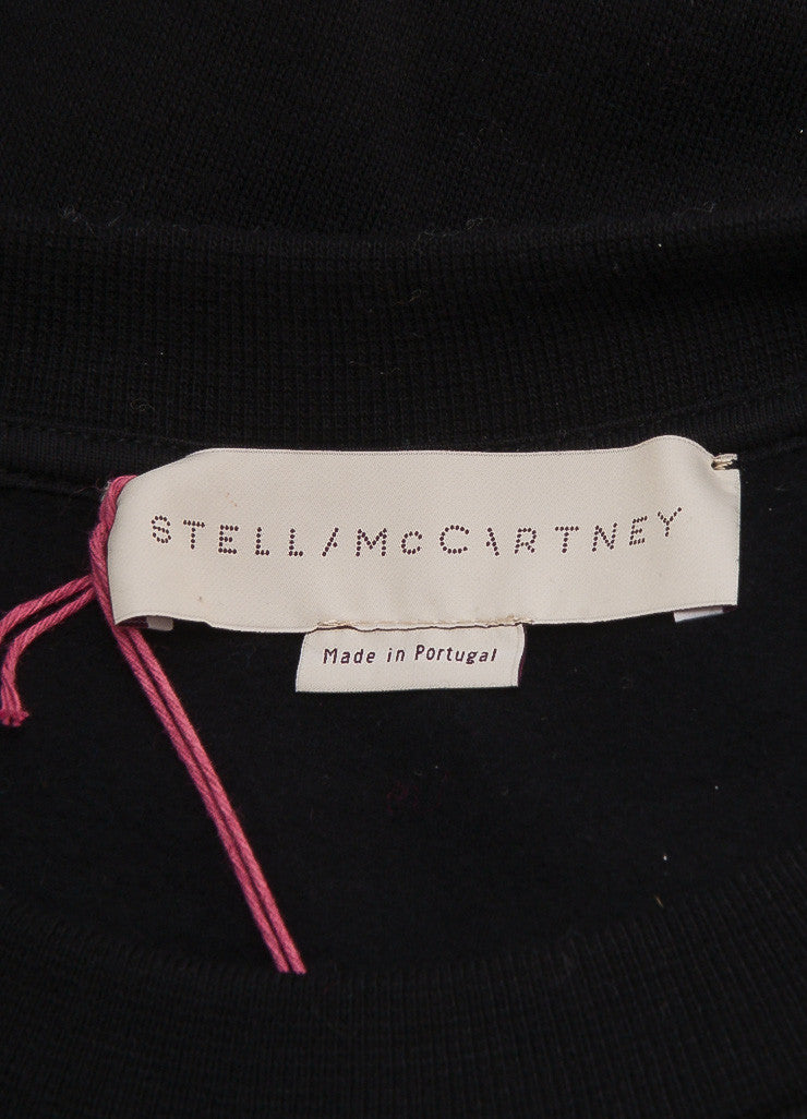 Stella McCartney New With Tags Black Beaded Arrow Pull Over Sweatshirt Brand