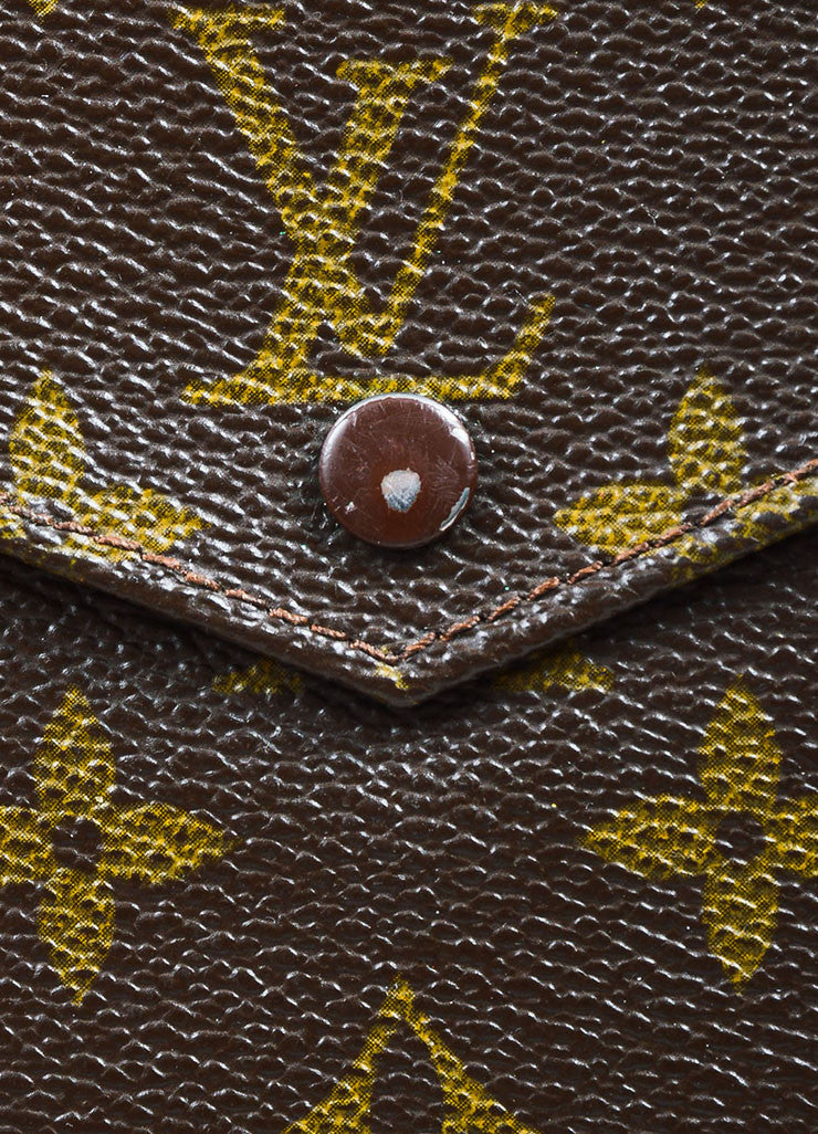 Louis Vuitton Brown Coated Canvas Monogram Snap Billfold Wallet Detail 2
