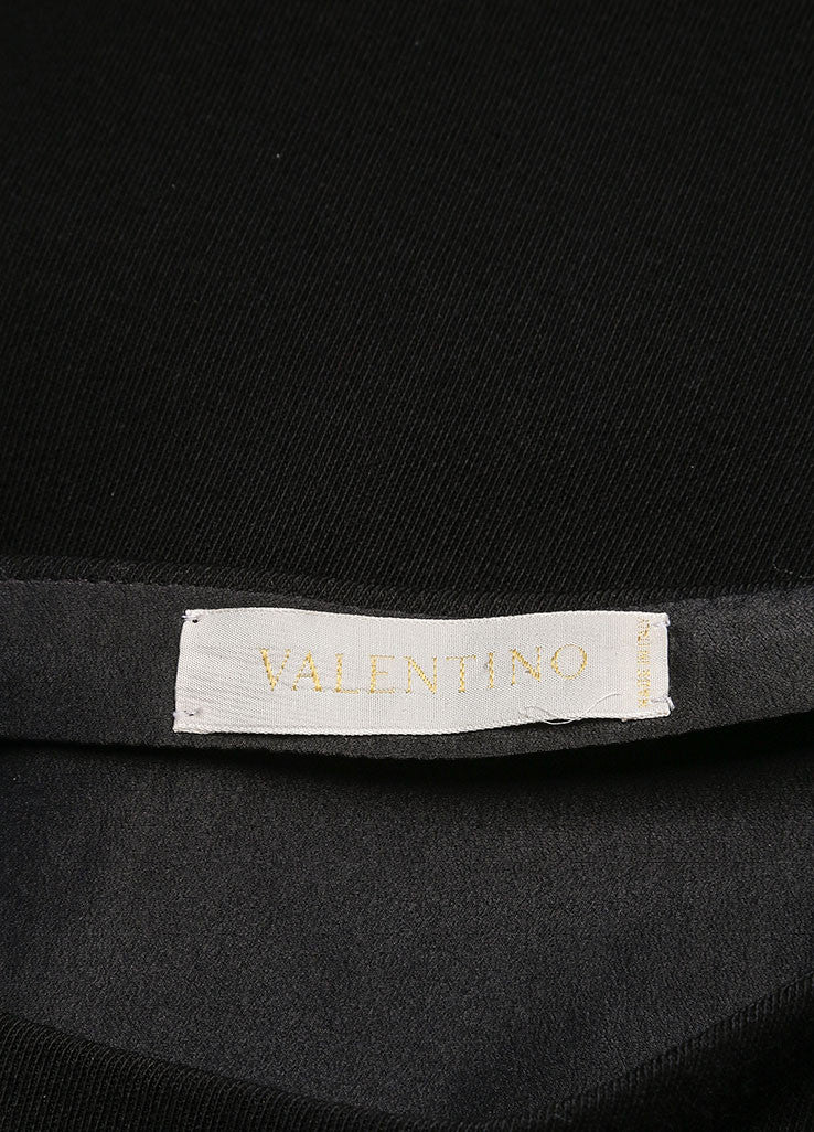 Valentino Black Wool and Silk Bow Embellished Skirt Suit Brand