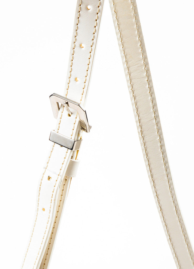 "Goyard White Goyardine Coated Canvas ""Belvedere PM"" Leather Crossbody Bag Detail 2"