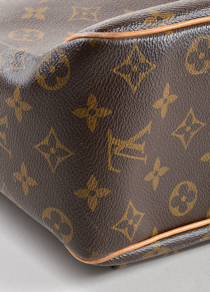 "Louis Vuitton Brown Monogram Canvas and Leather ""Multipli Cite"" Tote Bag Detail"