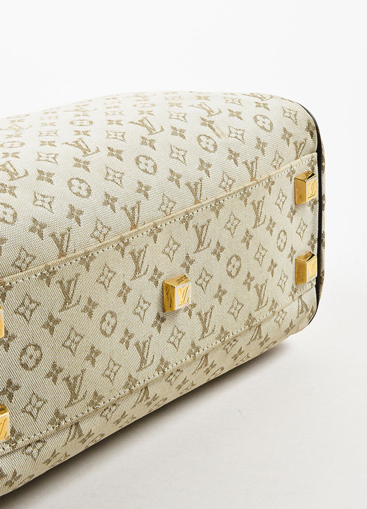 "Beige & Green Louis Vuitton Canvas Monogram ""Josephine PM"" Bag Detail"