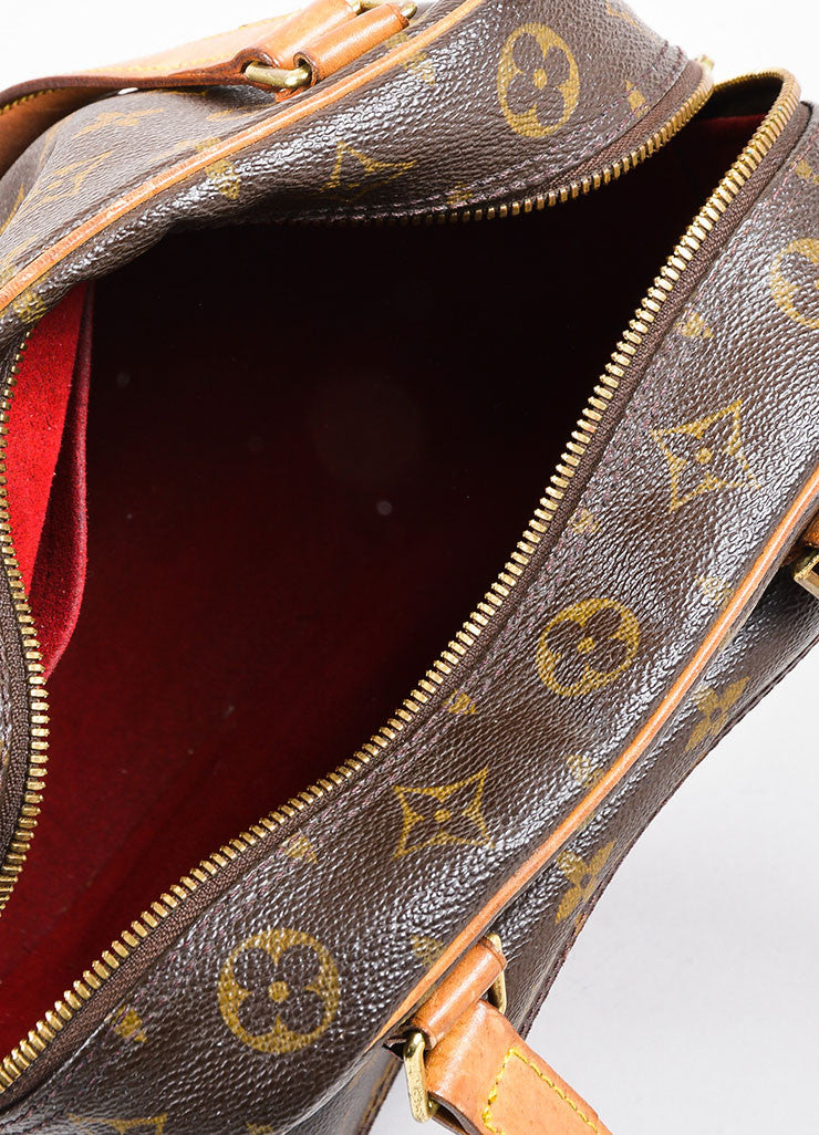 Louis Vuitton Brown Coated Canvas Mongram Multi Pocket 'Excentri-Cite' Tote Bag Interior