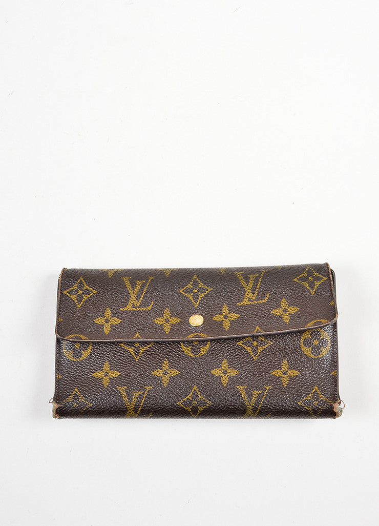 Brown Louis Vuitton Coated Canvas Monogram Porte Tresor International Wallet Frontview