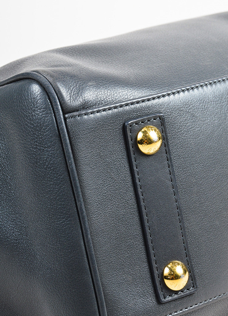 Louis Vuitton Ltd. Edition Grey Leather Top Handle Cinema Intrigue Bag Detail 2