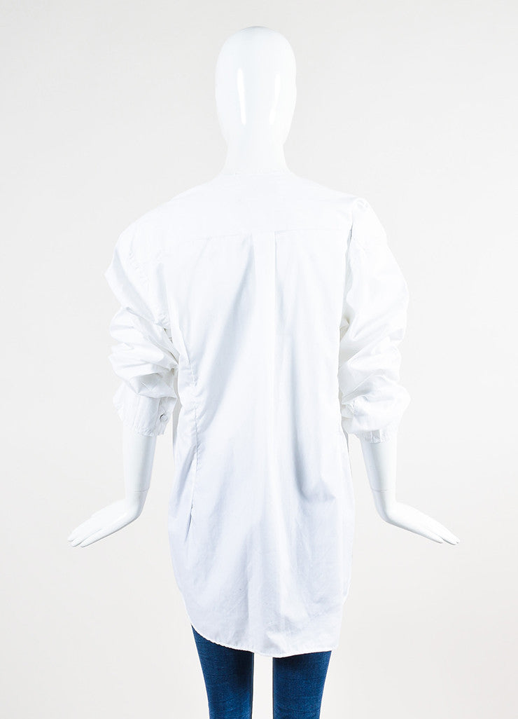Maison Martin Margiela White Buttoned Shirt with Removable Collar and Cuffs Backview