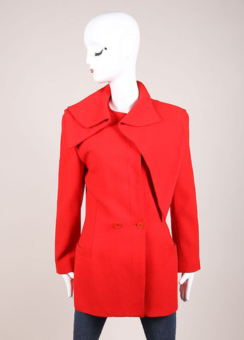 Gianni Versace Red Wool Jacket Frontview