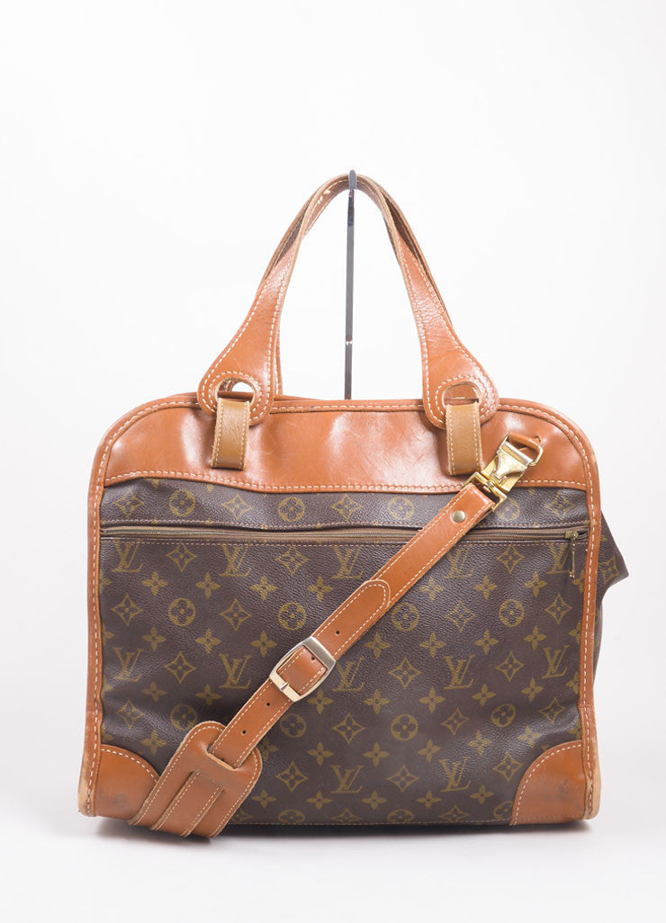 Louis Vuitton Brown Monogram Canvas Convertible Bag Frontview