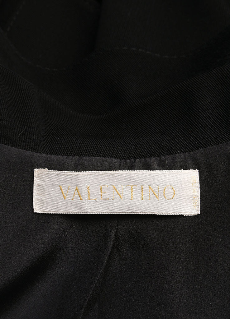 Valentino Black Wool and Silk Bow Embellished Skirt Suit Brand 2