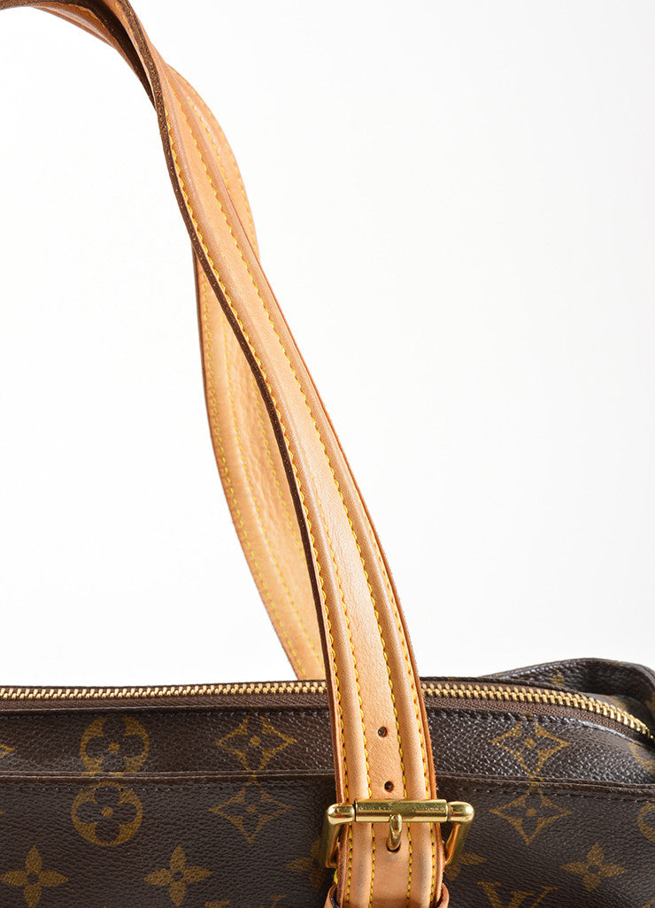 "Louis Vuitton Brown Monogram Canvas and Leather ""Multipli Cite"" Tote Bag Detail 2"