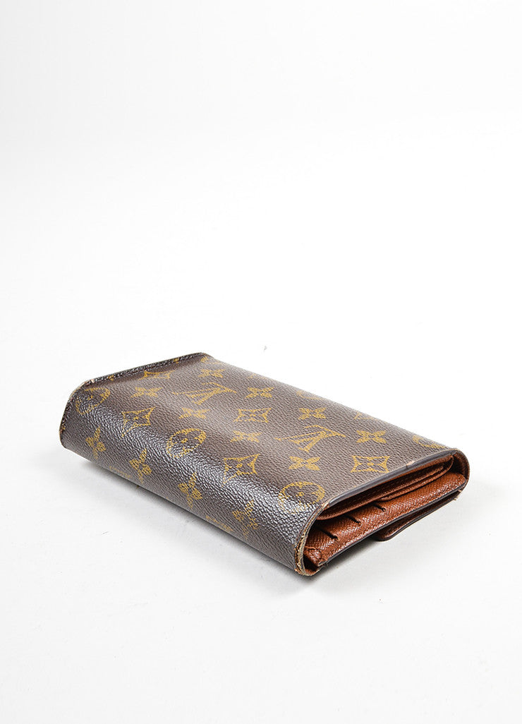 Brown Louis Vuitton Coated Canvas Monogram Porte Tresor International Wallet Sideview