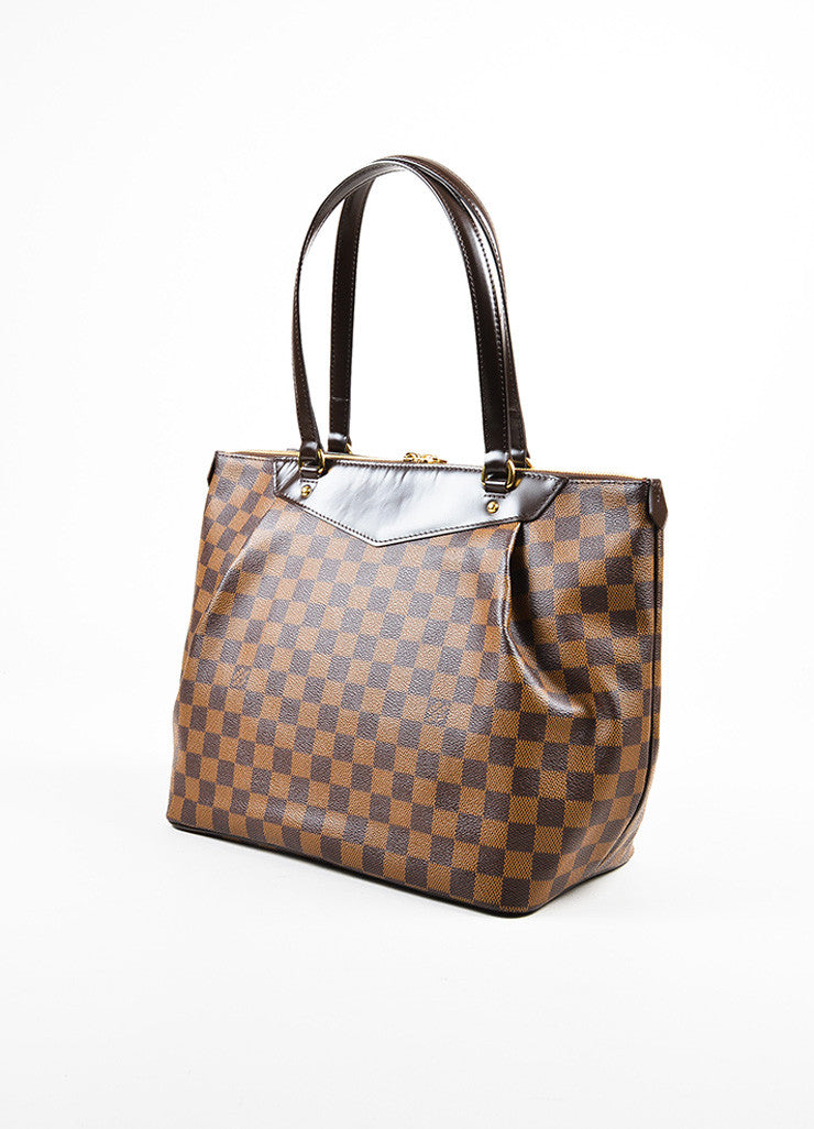 "Louis Vuitton Damier Ebene Canvas ""Westminster GM"" Tote Bag Sideview"